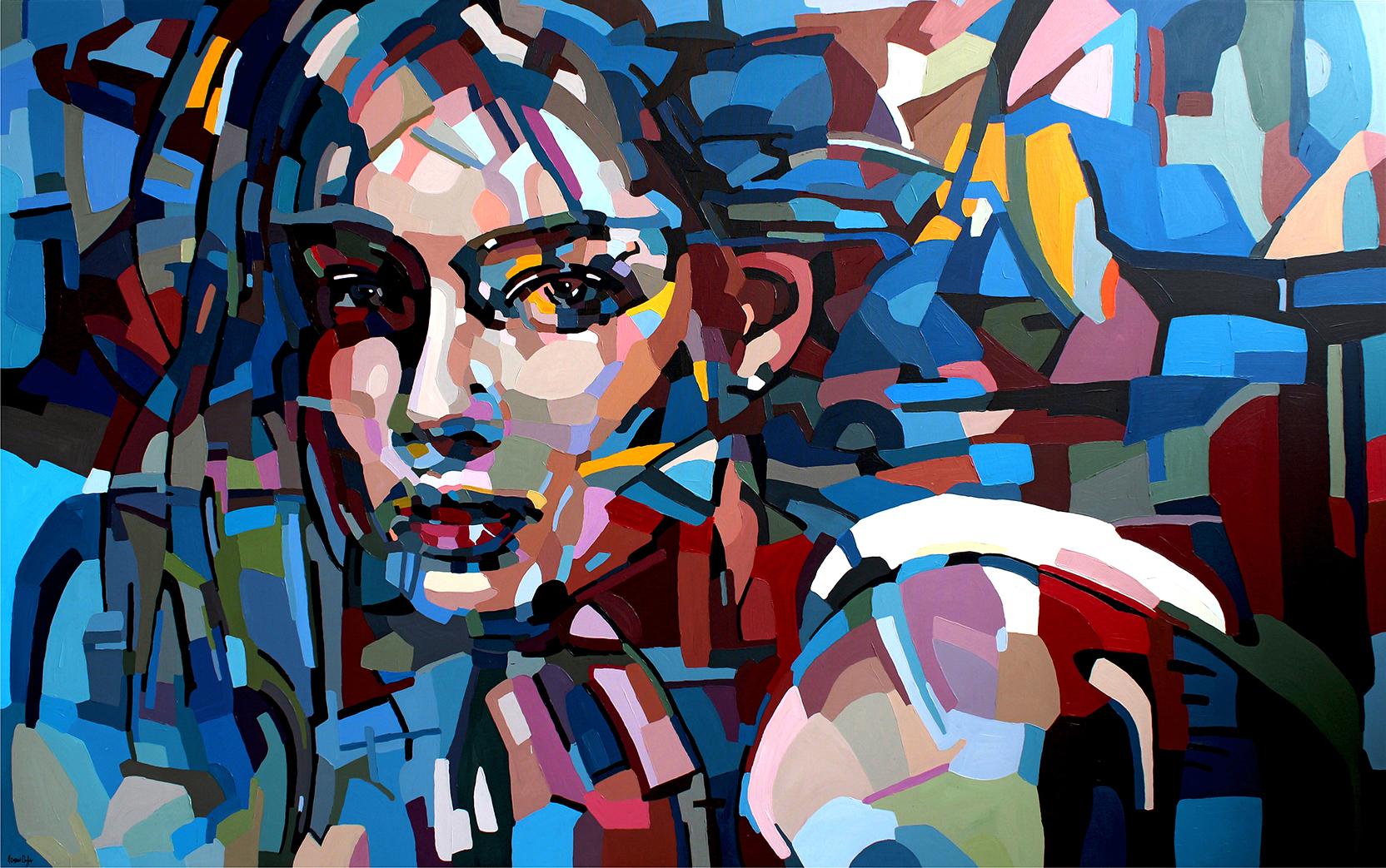 Artist- Noemi Safir blue painting female
